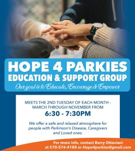 Hope 4 Parkies Education and Support Group - Educate, Encourage and Empower @ The Sidney and Pauline Friedman Jewish Community Center