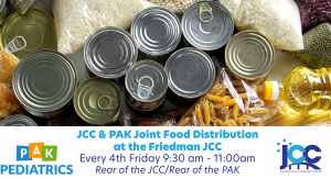 JCC & PAK Joint Food Distribution at the Friedman JCC @ Friedman JCC - Rear