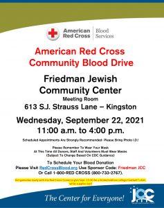 American Red Cross Community Blood Drive @ Friedman JCC
